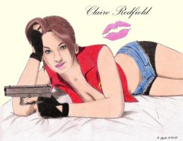 Claire Redfield - Pinup Art by BGShepard