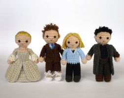 Tenth Doctor and company by LunasCrafts