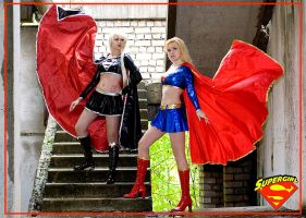 Supergirl and Dark Supergirl by Usagi-Tsukino-krv