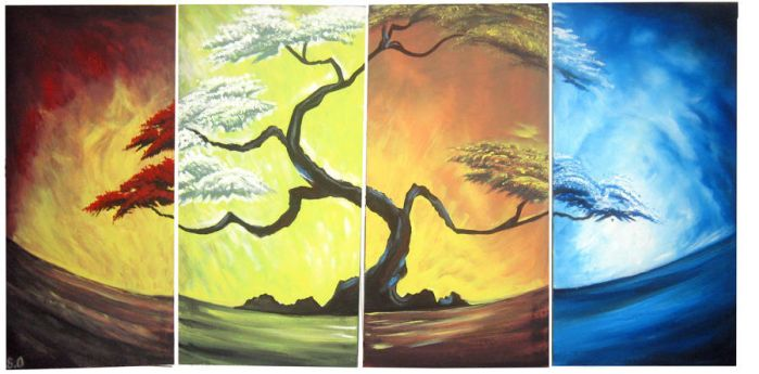 4 Seasons of the year by artsoni