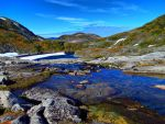 meltwater creek and lake by Glacierman54
