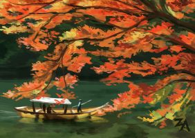 Speedpaint: Autumn Lake by ZLynn