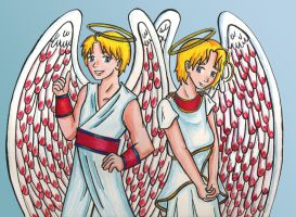 Alfred and Matthew Angels by Kasandra-Callalily