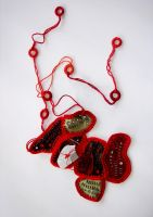 Necklace in Red by kalliaxa