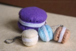Felt Macarons by EvanescentEvents