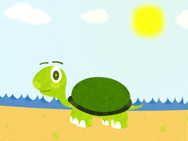 Turtle in a beach by chr5d50