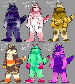 OPEN Beefy Wolf Adopts (5/6) by duliepeas