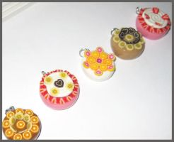 Fruit Cake Charms by softbluecries