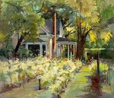 Summer Day by Michele Usibelli by OilPaintersofAmerica