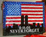 New York 9.11.01 Bead embroidery painting beadwork by SOFIAMETALQUEEN