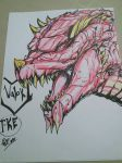 Valok ( head-sketch) by The-KaijuEnthusiast