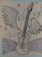 A guitar by MCR-ROX-MY-SOX
