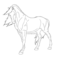 Horse Lineart by TayMay135