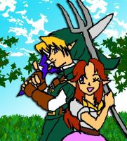 Fairy Boy and Malon by Risingstar9109