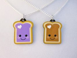 PBJ Best Friend Necklaces by egyptianruin