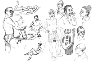 Italy Life Drawings by madDolphin