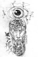 Face eye Tattooflash by 2Face-Tattoo