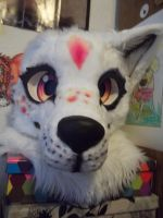 Sunny fursuit head W.I.P. by AlieTheKitsune
