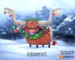 Daily Paint 1495. Hornaments by Cryptid-Creations