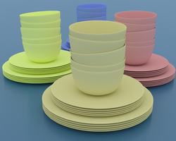 Cups and Plates by pyrohmstr