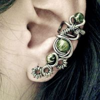 Evil Eye Cyberpunk Ear Cuff by JynxsBox