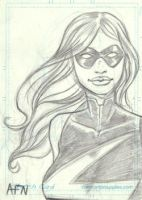 Ms Marvel Sketchcard by Nortedesigns