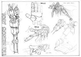 CHARACTER DESIGN -The Hero arm by biroons