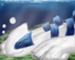 Lugia Sleeping by DarkraDx