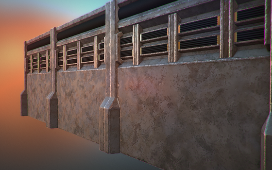 WIP 5 - Texturing wall model by mexpex