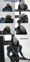 Garrus Vakarian Action Figure Face Repaint by Shattered-Earth