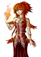 P-L: Ember, The Queen of Fire by Sylvarant-Cross