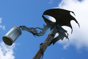 Green Dragon Light Post by Whickender