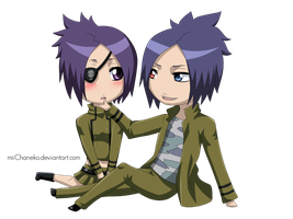 PC: Chibi Mukuro x Chrome by miiChaneko