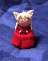 tiny clay inu yasha by JillyFoo