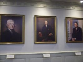 Presidents Madison, Hoover, and Regan by blunose2772
