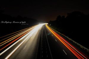 The highway:Reunion of lights by WannTrad