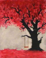Red tree by alam666