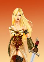 Blonde Elf Warrior by gameboybunny