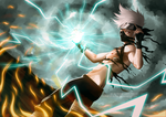 Shirtless Ninja: Hatake Kakashi by greggileano