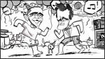 Obama and Romney, Partycat Style by DoNotLick