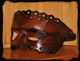 leather mask side view by Lagueuse