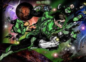 Green Lanterns COLOR by henflay