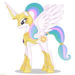 Celestia in armor - PNG by Larsurus