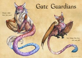 Gate Guardians by windfalcon