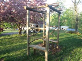 Log Arbor with Benches by Devine-Escapes