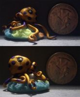 Purple Ringed Octopus by DKayCrafts