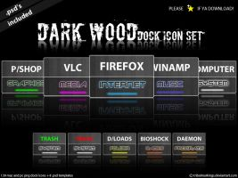 Dark Wood - Dock icon set by KillboxGraphics