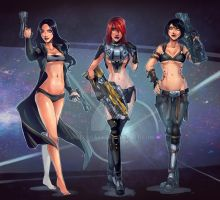 Hipsters Don't Lie: Girls of Black Sun by Maelora69