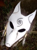 Wolf Shamans Mask by savagedryad