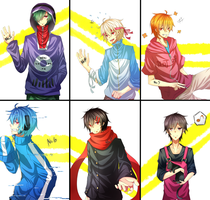 Kagerou Project Girls Genderbends by x-ShinyStar-x